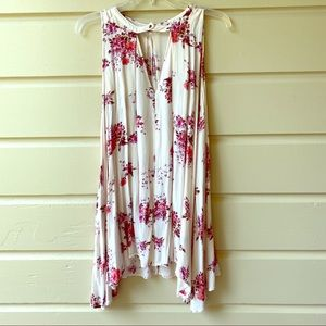 Cute! Free people flowered Trapeze dress small